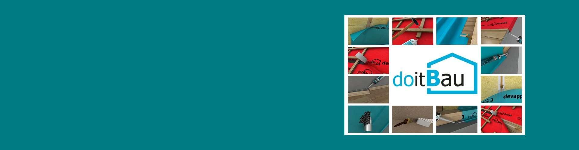 Luftdichtes- und winddichtes Verkleben für Flach- und Steildach