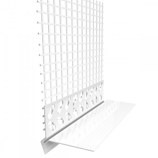 Sockelkantenprofil mit PVC 60mm