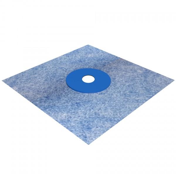 doitBau Sanitär Wandmanschette TPE blau 120x120mm