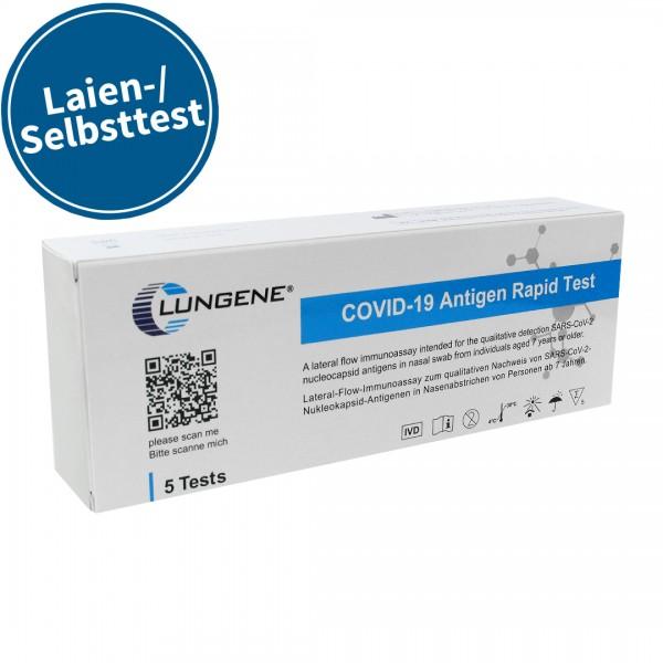 Clungene Covid-19 Antigen Schnelltest, 5 Testkits